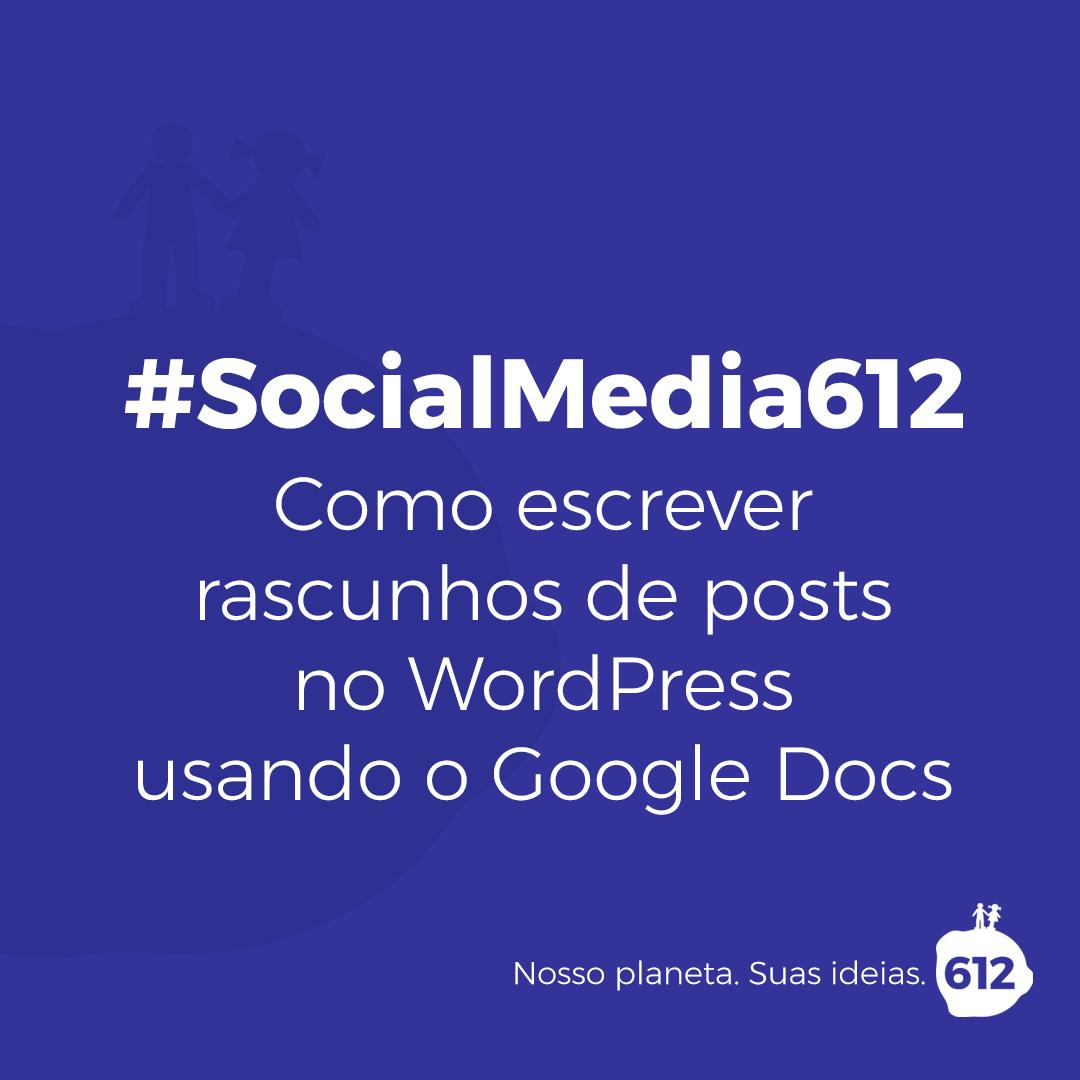Você pode escrever um rascunho de um post WordPress no Google Docs