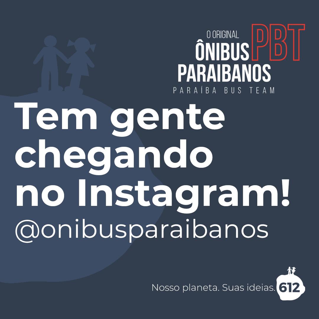 O Ônibus Paraibanos entrou no Instagram