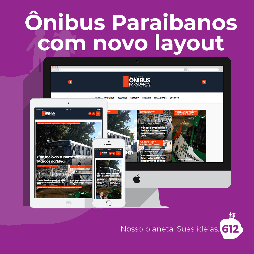 Ônibus Paraibanos ganha nova marca e novo layout para o site