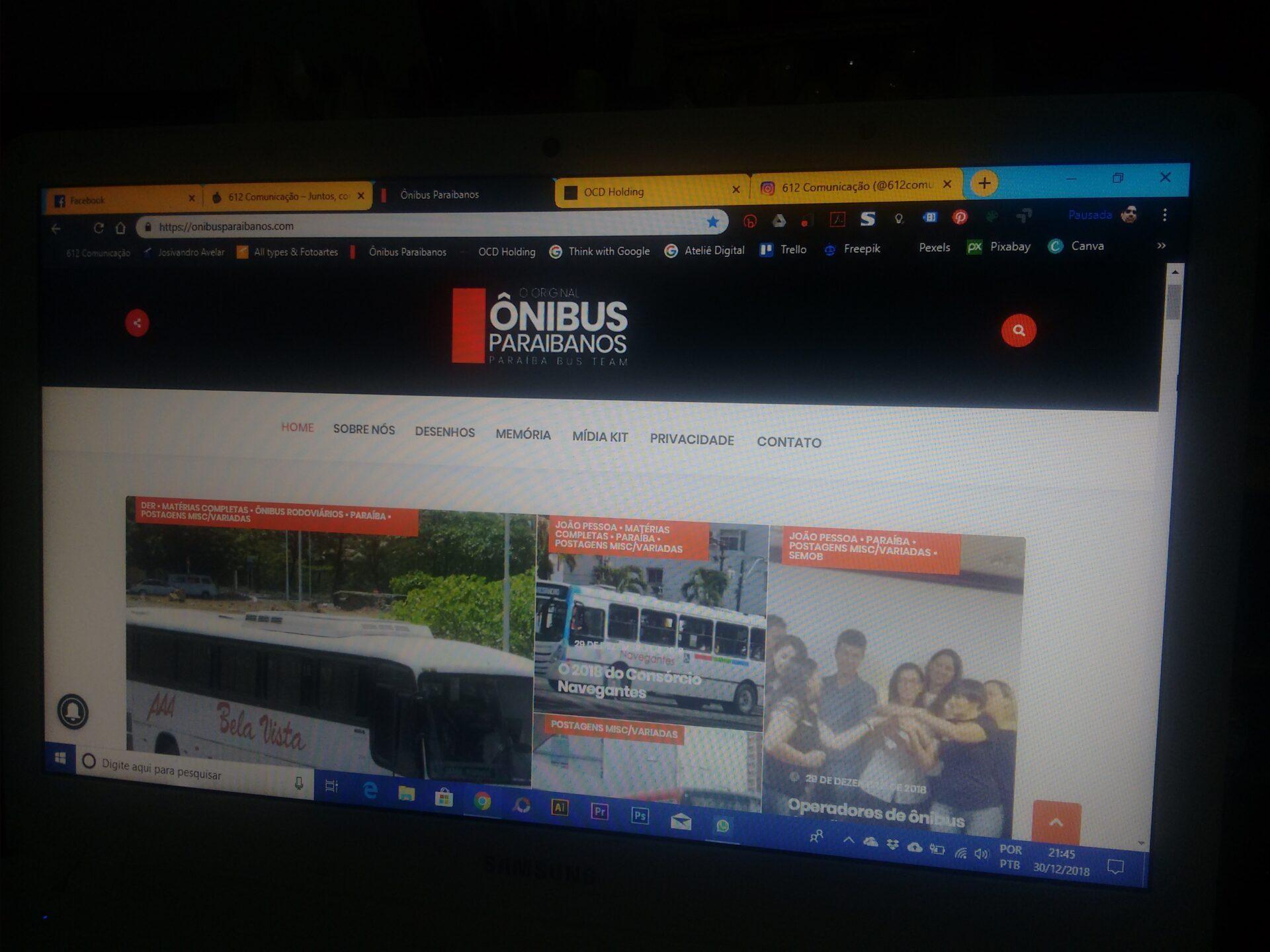Portal Ônibus Paraibanos fora do ar; problemas já foram resolvidos, aguardando ação da hospedagem