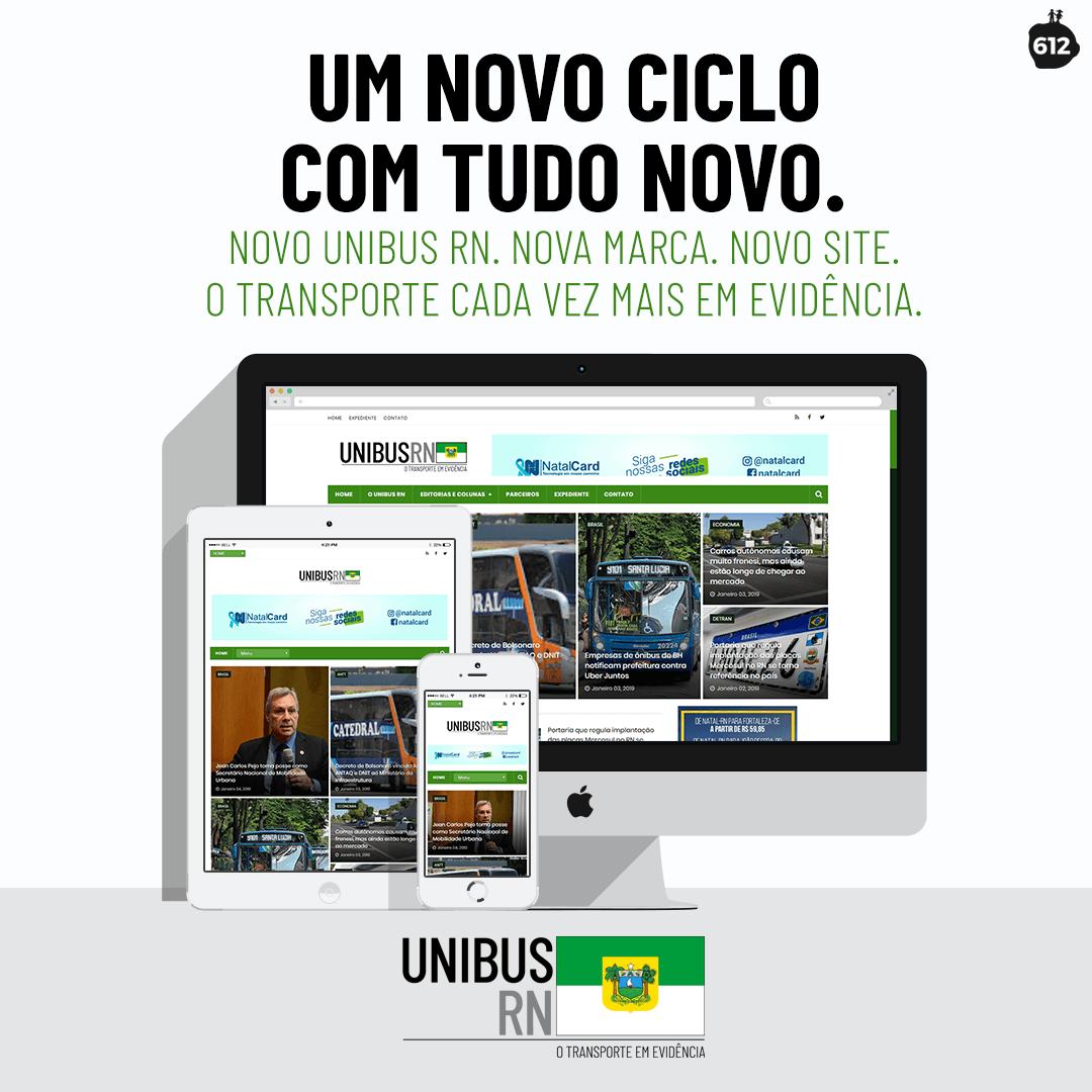 UNIBUS RN ganha nova marca e novo site, desenvolvidos pela 612 Comunicação