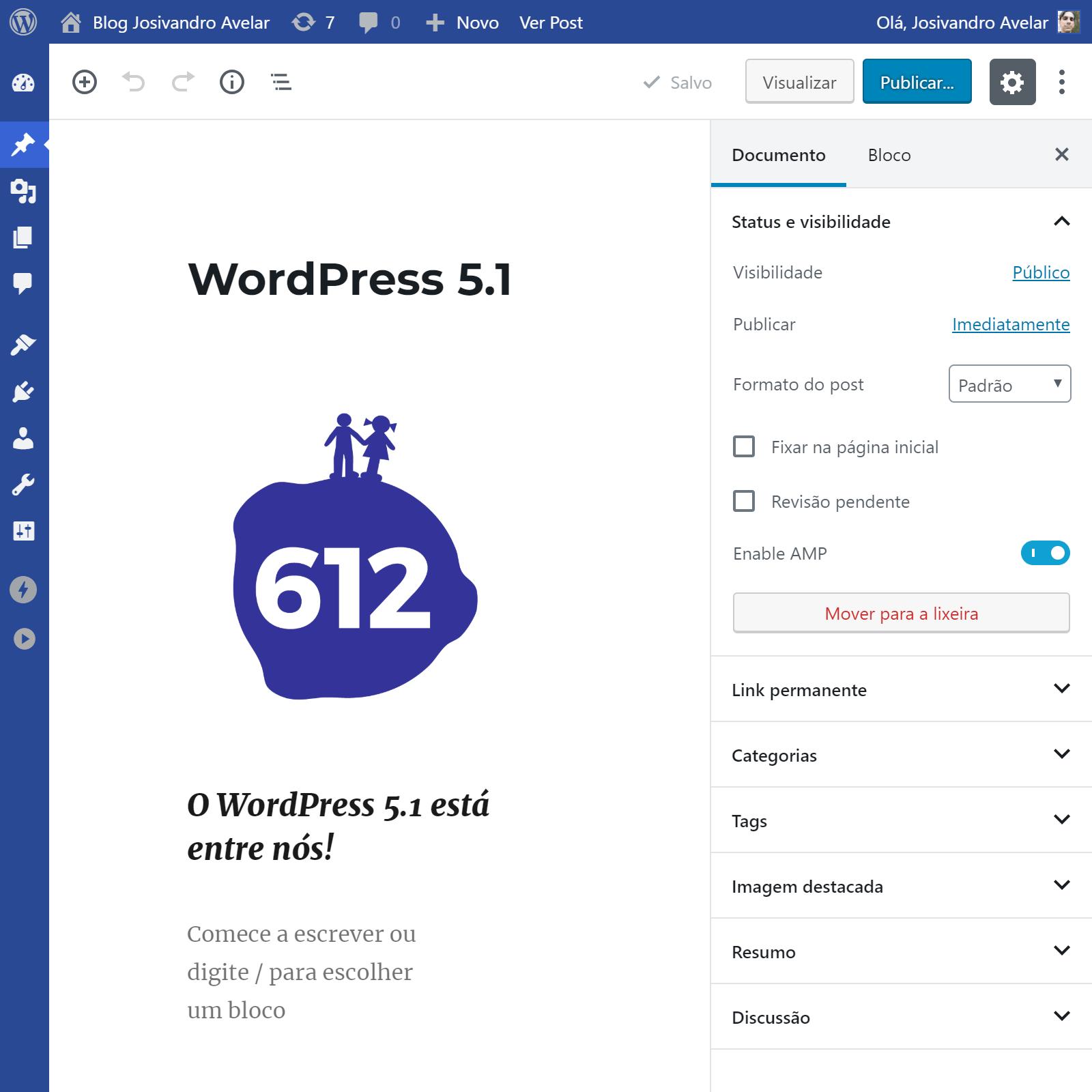 Lançada a versão 5.1 do WordPress
