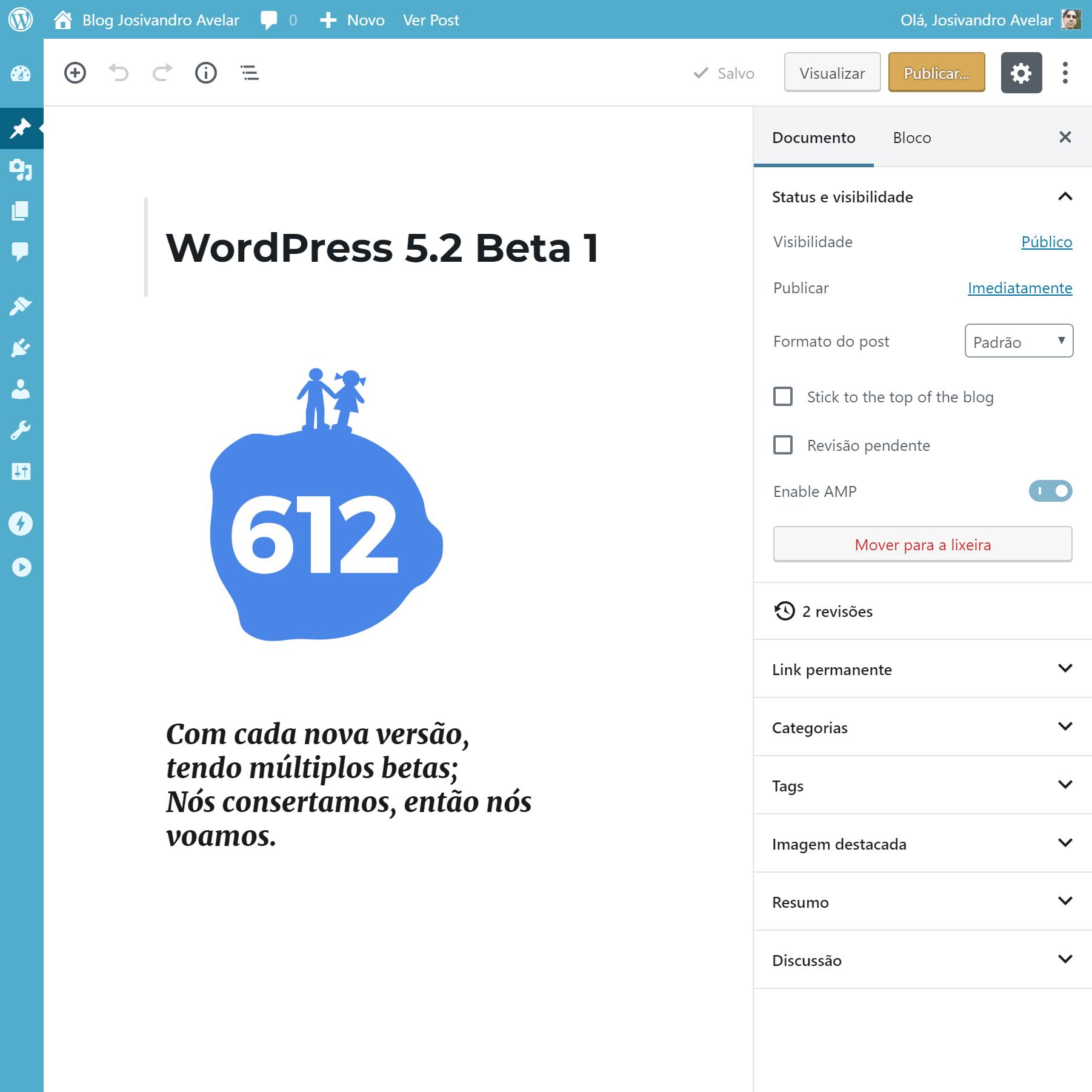 Primeiro beta da versão 5.2 do WordPress já está disponível