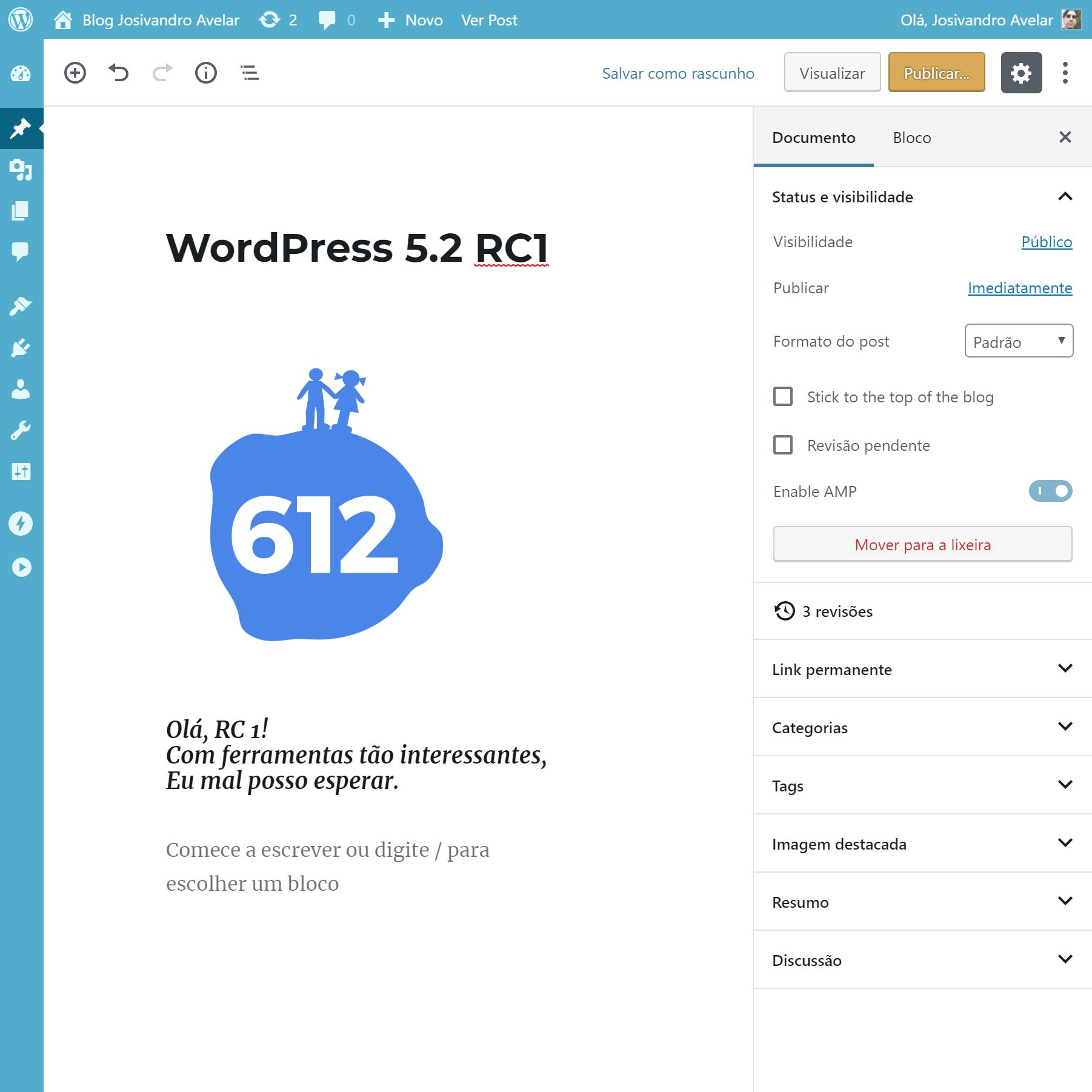 Saiu o Release Candidate do WordPress 5.2; lançamento é adiado para maio